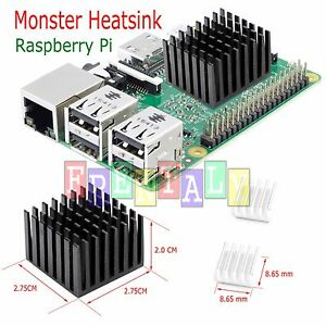 3 Pcs Set Green Adhesive Aluminum Heatsink Cooler Cooling Kit for Raspberry Pi