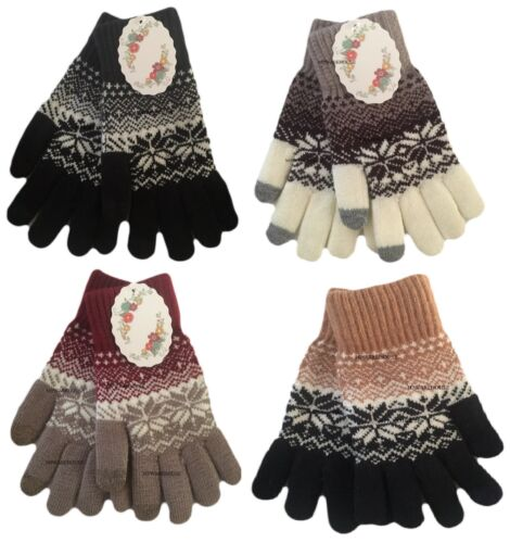 LADIES SUPER SOFT TOUCH SCREEN WINTER GLOVES UNISEX MENS TOUCH SCREEN GLOVES