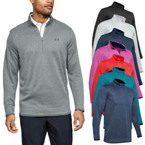 Under-Armour-Homme-UA-sweaterfleece-1-2-zip-resistant-a-l-039-eau-Pullover-40-OFF-RRP