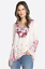 Embroidered-Shell-JOHNNY-WAS-Blouse-WISH-STITCH-V-Neck-Tunic-Cupra-XS-278 thumbnail 2