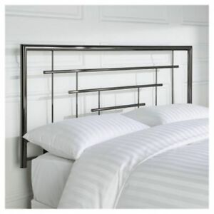 Image Is Loading 4ft6 Double Metal Headboard For Bed In Smoked