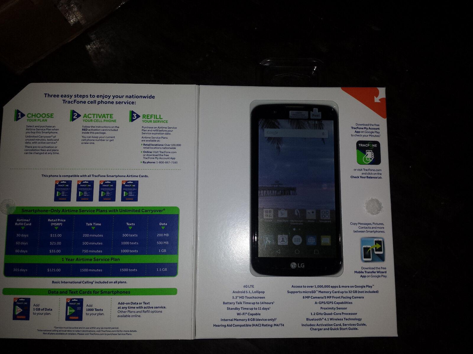 LG Premier LTE Tracfone Prepaid Android Smartphone