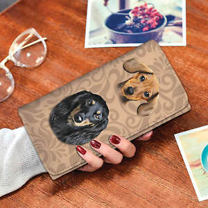 Dachshund-Wiener-Doxie-Lover-Long-Multi-Pocket-Wallet-With-RFID-Protection
