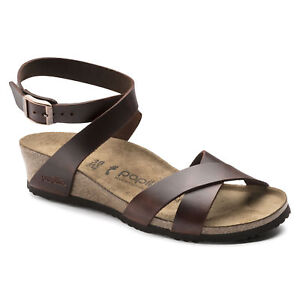 152a233b899 Image is loading REDUCED-Papillio-by-Birkenstock-LOLA-Leather-Cognac-Brown-