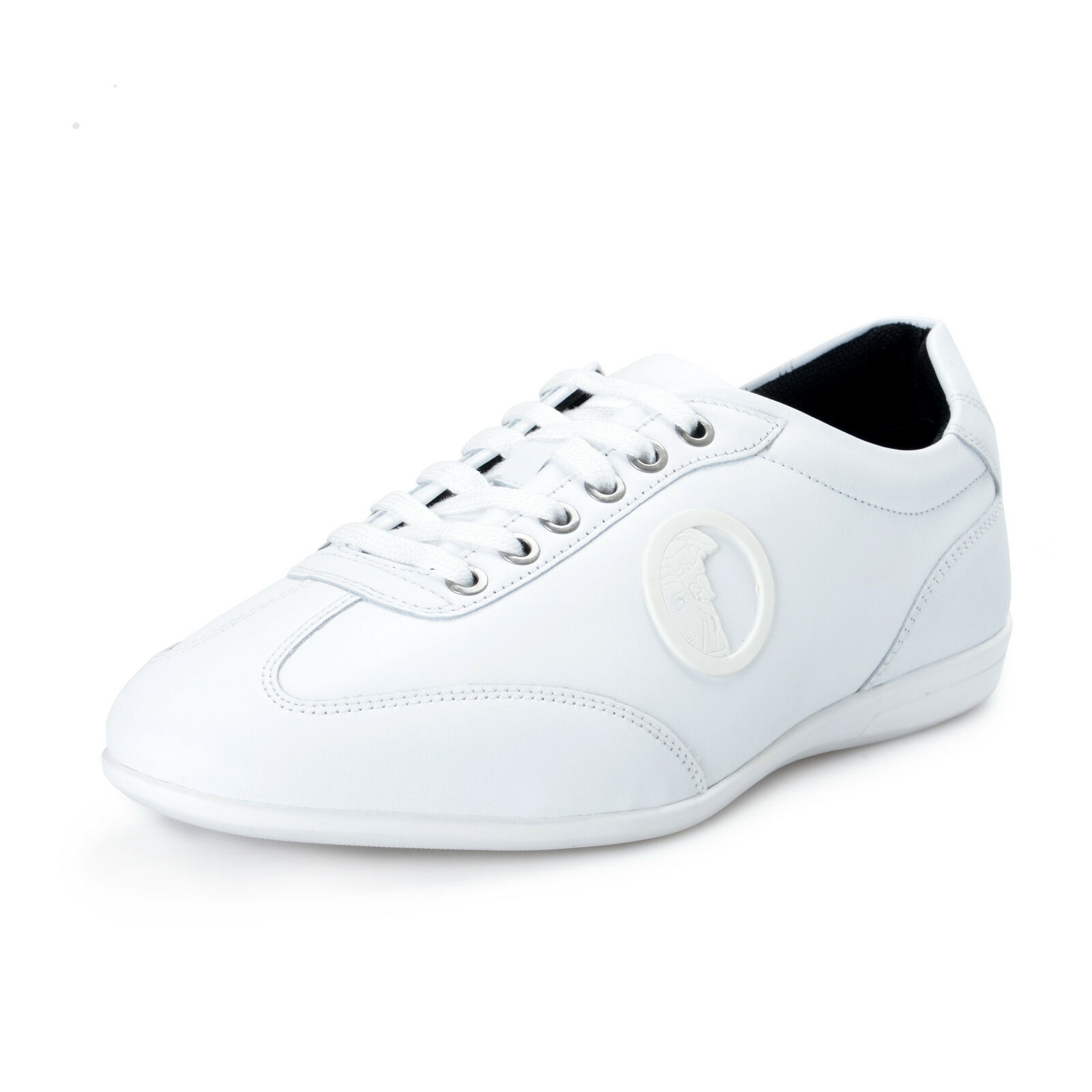Versace Collection Men's White Leather Fashion Sneakers shoes Sz 7 8 9 10 12