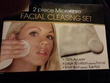 Nuevo 2 Piezas Limpieza Facial Microfibra que Set Ojos/pad/Franela/Piel/Limpiador