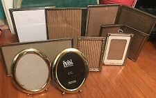 Vintage gold brass metal embossed ball foot photo picture frame Wedding lot