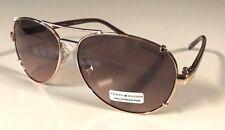 NWT Tommy Hilfiger Bradshaw WM OL06 Aviator Gold Brown Sunglasses 60/13/130 $60