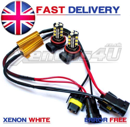 H11 Xenon WHITE 27 LED SMD CAN BUS ERROR FREE Car Fog Bulbs Audi A3 A4 B6 A5