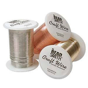 28GA 3 Spools Gold, Copper Silver Craft Wire Each 120 Ft 36.5 Meters Non-Tarnish