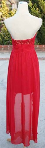 NWT HAILEY LOGAN $120 RED NUDE Party Dance Prom Gown 11