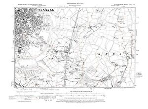 Old Map of Walsall SE Staffordshire in 1938 Repro 63 SE eBay