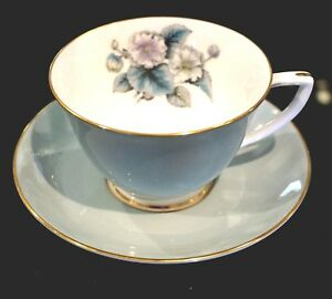 Royal-Worcester-Woodland-Tea-Cup-And-Saucer