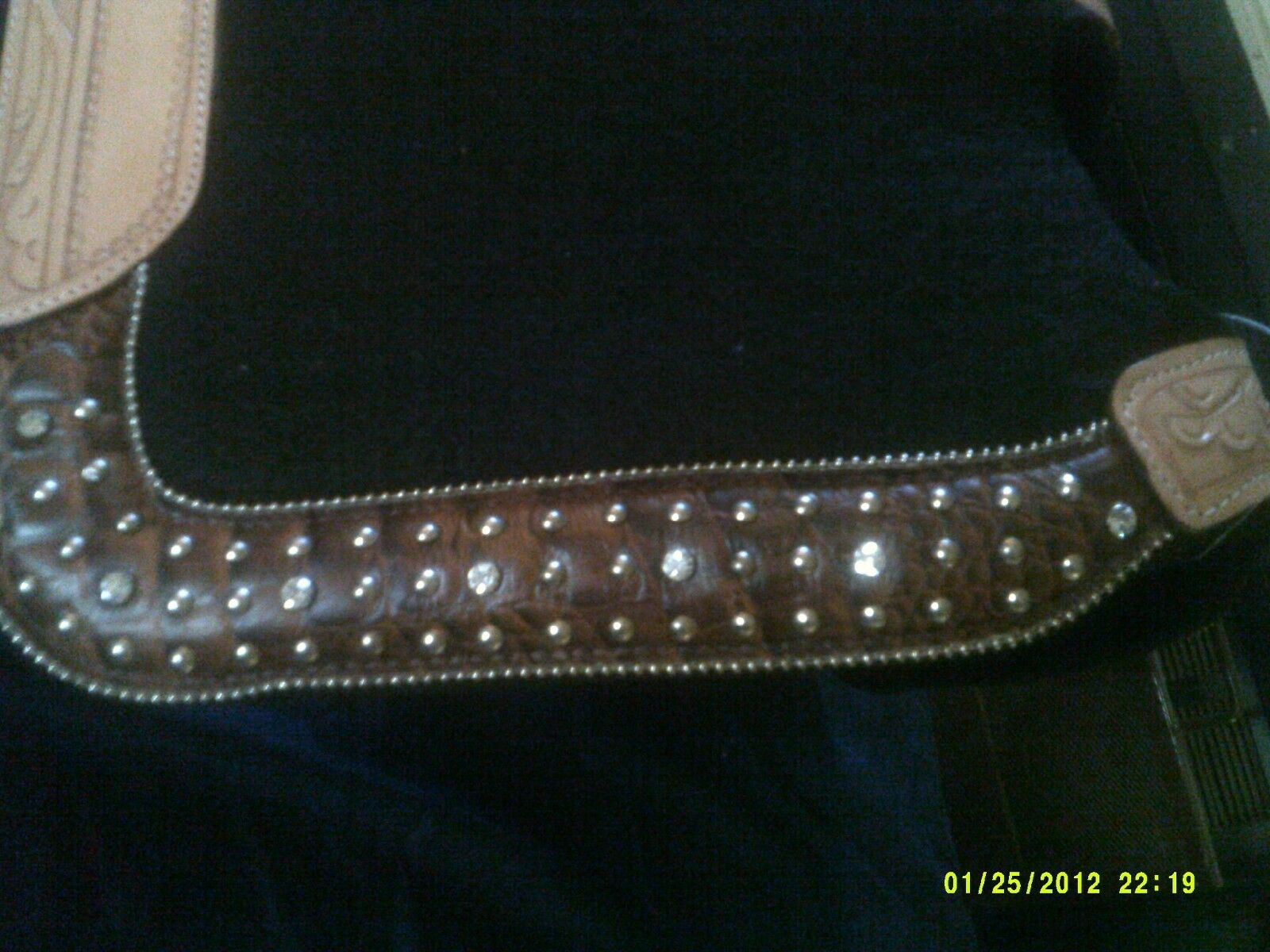 Saddle Pad mostrare stile struuominitoed Natural Wear Leathers Bullet Design
