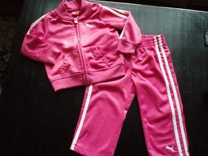 fb5700b6c768 PUMA baby toddler girl s two piece pink athletic suit ~ size 18 ...