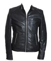 Rayman Black Mens Leather Nappa Leather Fashion Jacket
