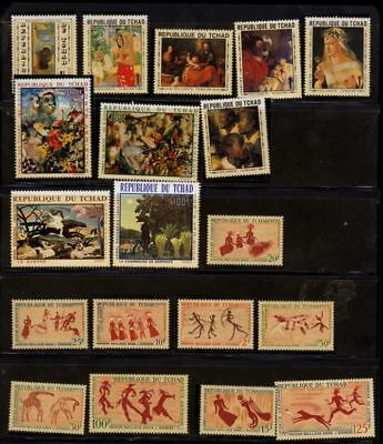 Topical Stamps Obliging 4 Tchad Stamps Series Art Cv=330 Euro Mnh To Suit The PeopleS Convenience