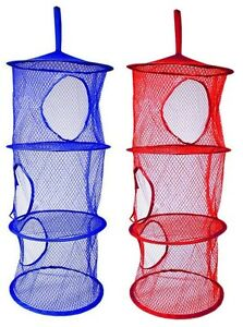 Incroyable Image Is Loading 2 X Layer Hanging Hamper Mesh Storage Closet