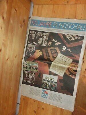 """Alte Zeitung """"rundschau"""", 50 Jahre Rundschau, Von 1996, Jubiläumsausgabe Attraktive Mode"""