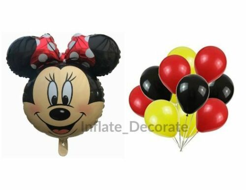 "25/"" Mickey//Minnie Mouse Giant Foil Balloons Kids Birthday Party fun Baloon"