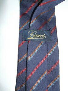 GUCCI-MADE-IN-ITALY-CRAVATTA-TIE-KRAWATTE-BLU-LANA-WOOL-WOLLE-SILK-SETA