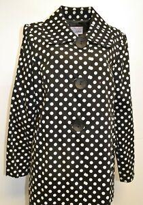 3 Sisters Jacket 6013 3S191 S,L,XL Runway Womens Swing A-Line Dressy Coat USA