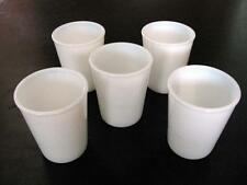 "SET OF 5 VINTAGE 3.5"" OPALESCENT MILK GLASS TUMBLERS"