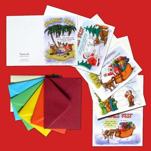 plan zum Beschriften oder verpackt 100 witzige Weihnachtskarten mit Umschlägen