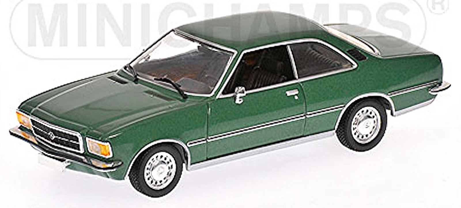 Opel Rekord D Coupe 1971-77 jade green green metallic 1 43 Minichamps