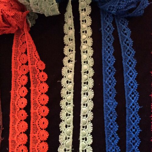 shuttle cotton mix lace//trim 1inch wider almost in every colour just £1.15//meter