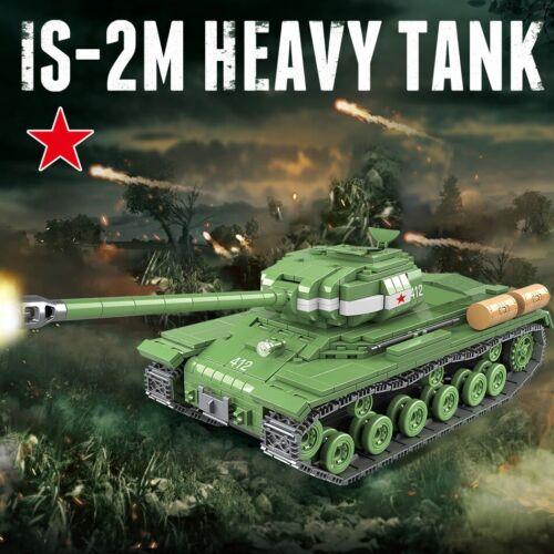 Militaire 1068pcs IS-2M char lourd soldat arme Building Blocks wot WWII guerre