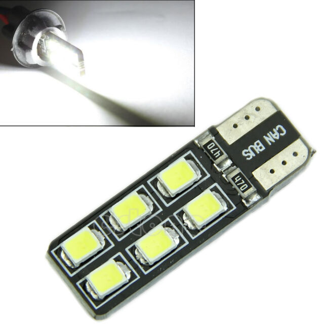 White Light T10 LED 2835-12 SMD CANBUS ERROR FREE W5W 194 168 Door Map Bulb