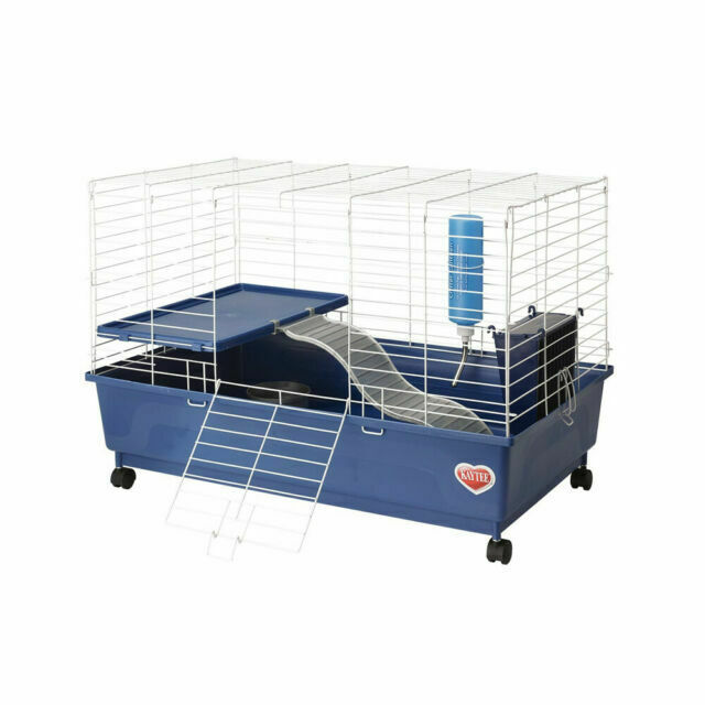 Kaytee My First Home Deluxe Guinea Pig 2 Level Cage With Caster