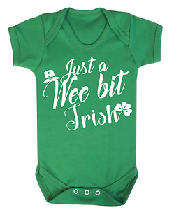 Just a Wee Bit Irish Baby Vest Bodysuit Babygrow Ireland Baby Irish Gifts