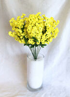12 Baby's Breath Yellow Gypsophila Silk Wedding Flowers Centerpieces Decor
