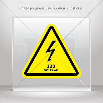 Decals stickers danger haute tension 240 V AC Véhicule st5 X4334