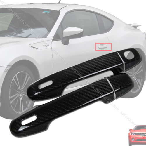 For TOYOTA GT86 SCION FR-S Carbon Fiber CF Outside Door Handle Cover Trim 12-19§