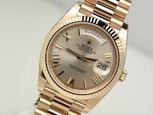 Rolex-Day-Date-228235-President-40mm-Everose-Gold-Sundust-Roman-Dial-Watch