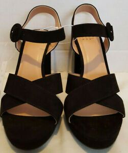 A-New-Day-Women-039-s-Fiona-Crossband-Platform-Ankle-Strap-Sandals-Size-8-Black