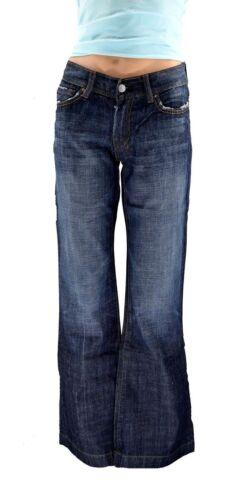pour évasés toutes les poches en avec denim broderies cuir à Jeans femmes évasé en 7 YX5qSwn