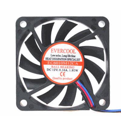 Evercool EC6015M12CA 60mm x 15mm Ball Bearing Cooling Fan pc cooler 12V 3 pin