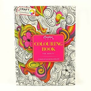 Image Is Loading Adult Colouring Therapy Creative Calm Anti Stress