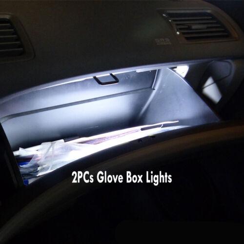 12Pc Super White Interior LED Light Bulb Kit Package for 1998-2001 Nissan Altima