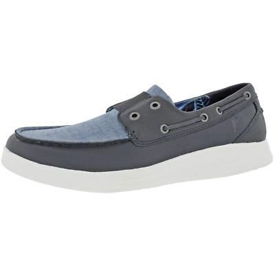 Tommy Bahama Men's Ocean Ridge Leather Canvas Relaxology Deck Boat Shoes