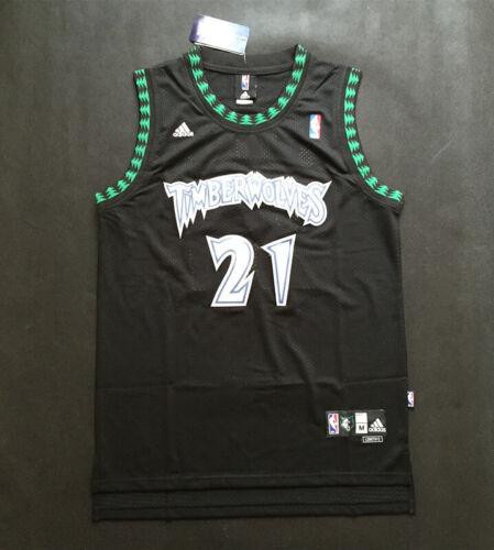 Minnesota Timberwolves #21 Kevin Garnett Black Basketball Jersey Size S XXL
