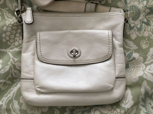 lederen wit tasleuk Coach crossbody Park Pearly rQtshdC