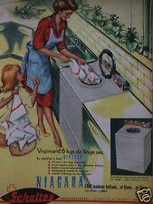 PUBLICITÉ 1962 SCHOLTÈS NIAGARA MACHINE A LAVER THIONVILLE WOIPPY - ADVERTISING