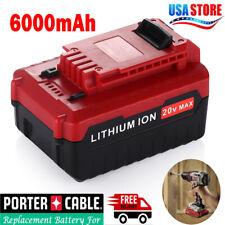 20V MAX 6.0AH Hour PCC685L Lithium-Ion Battery For Porter Cable PCC680L PCC682L