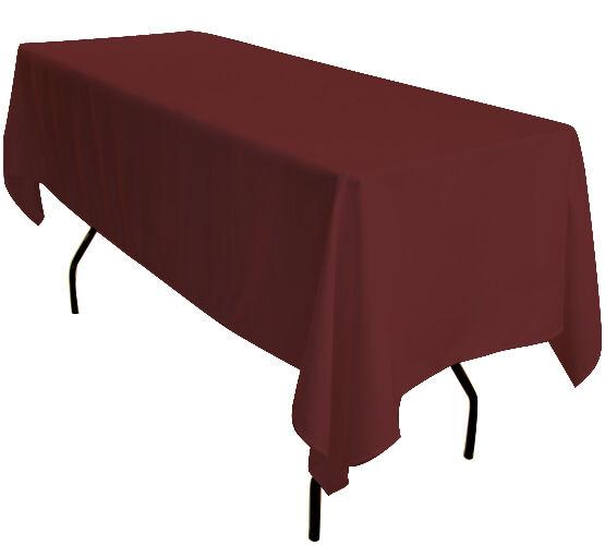 5x 229cmx335cm Bordeaux Rectangulaire 1.8 M Chevalet Table Nappes Exhibition