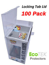 """100 Collectible Funko Pop! Protector 4"""" Vinyl Box Crystal Clear Acid Free Strong"""